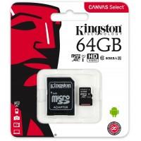 Картка пам'яті 64GB KINGSTON micro SDXC Class 10+ adapter