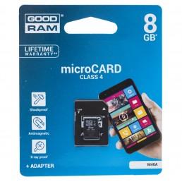 Картка пам'яті 8GB GOODRAM micro SDHC Class 4+ adaptor
