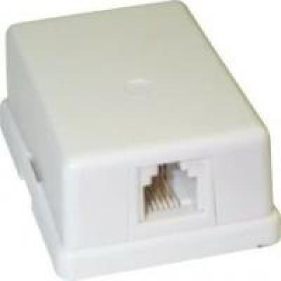 Коробка телефонна --1гн.RG11 (6P4C)