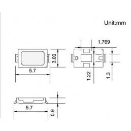 Кристал SMD5630 Білий 6000K 0.5W