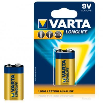 Крона 6LR61 BLI 1 Varta Longlife Alkaline