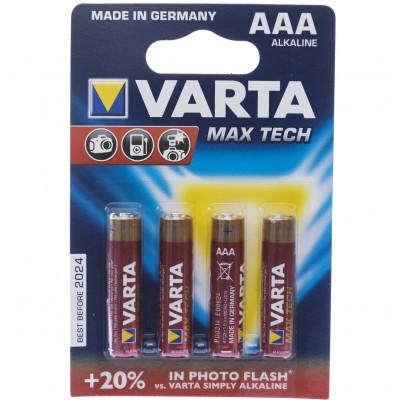 Батарейка LR03 (AAA) VARTA 4703 Maxi-Tech 1x4