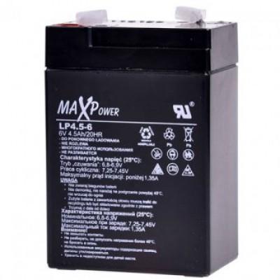 Акумулятор 6V*4,5Ah MaXpower 0401