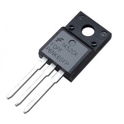 Транзистор P6NK60ZFP (600V*6A*1 Om) (TO-220FP) N-channel ( Б/У)