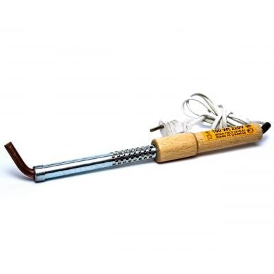 Паяльник 100Вт кривий || дерев'яна ручка