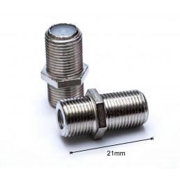 Перехідник F-бочка (F-гн./F-гн.) + гайка 21mm