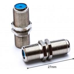 Перехідник F-бочка (F-гн./F-гн.) 27mm