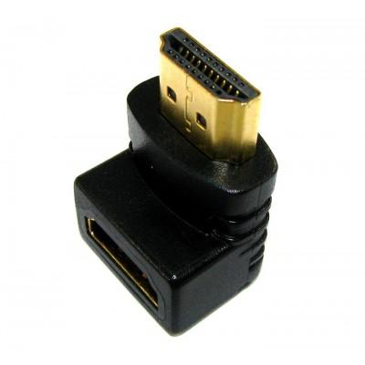 Перехідник гніздо HDMI - штекер HDMI (кутовий вертикальний )