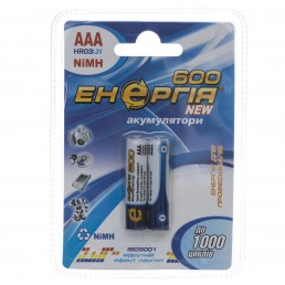 Акумулятор R03 AAA 600mAh/B2  Енергія  Ni-MH