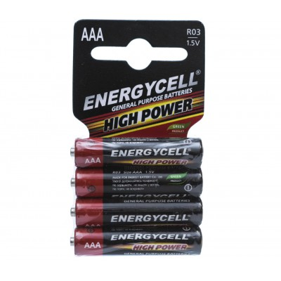 R03 (AAA) ENERGYCELL 4ps