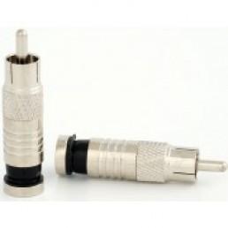 Штекер RCA для кабеля RG-6, компресійний, мідь