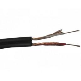 Кабель RCA 2 жили 2,6х5,2мм, CU, 100м. чорний
