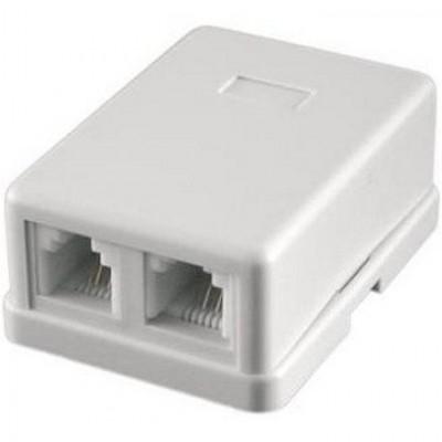 Коробка телефонна --2гн.RG11 (6P4C)