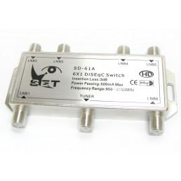 Дісек DiSEqC (1.1)  SET SD-61A ( 1x6)