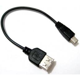 Шнур гніздо USB/шт.mini USB OTG V3 (0.12m)