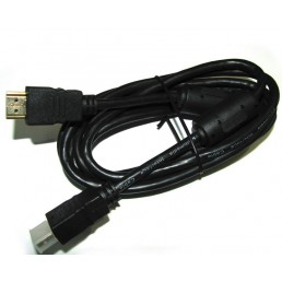 Шнур HDMI/HDMI GOLD V-1.4 діам ( 6мм) чорний 1,0 м