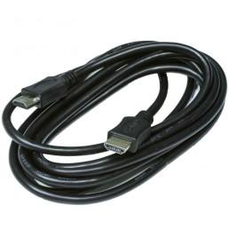 Шнур HDMI/HDMI GOLD V-1,4 діам ( 6мм) чорний 3м.