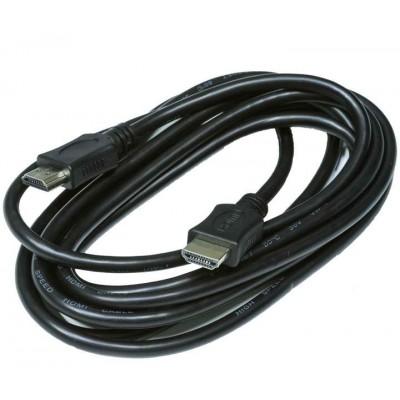 Кабель  HDMI - HDMI GOLD V-1.4 діам 6.0мм чорний  10 метрів
