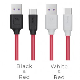 Шнур штекер USB A / type-C 2.0 HOCO X11 Rapid 1м , червоний