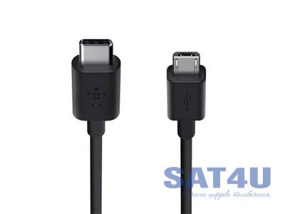 Шнур штекер USB A / type-C 2.0 1м , чорний
