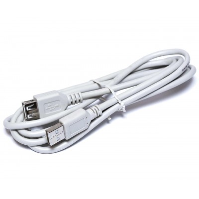 Подовжувач USB (шт.А - гн.А), V2.0, діам.-4,5мм, сірий, 1.8м