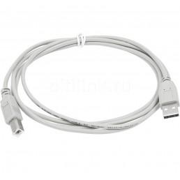 Шнур USB (шт.А - шт.B), V2.0, діам.-4,5мм, сірий, 3.0м