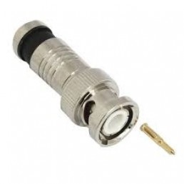 Штекер BNC компресійний під кабель RG-59, латунь