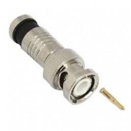 Штекер BNC компресійний під кабель RG-6, цинк