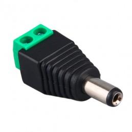 Штекер DC/2.1*5.5mm (чорний) / під гвинт