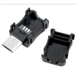 Штекер Micro USB 5pin розбірний прямий