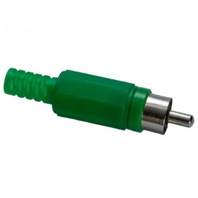 Штекер RCA зелений (пластмаса)