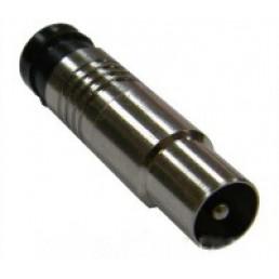 Штекер ТВ для кабеля RG-6, компресійний , латунь