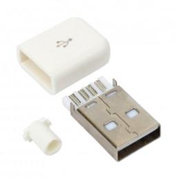 Штекер USB A 5pin розбірний прямий (сірий)