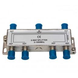 Сплітер 1/6  BZT HQ  5-1000 MHz (прохідний)
