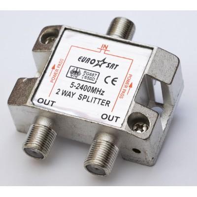 Сплітер 1/2 BZT658D EUROSAT 5-2400MHz (прохідний)