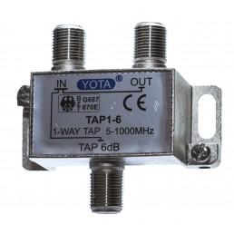 Сплітер/TAP EUROSAT 1-6/  #-6dB 2-WAY 5-1000MHz