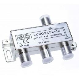 Сплітер/TAP EUROSAT 2-12/  #-12dB 2-WAY 5-1000MHz