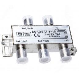Сплітер/TAP EUROSAT 3-10/  #-10dB 3-WAY 5-1000MHz
