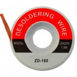 Стрічка для видалення припою ZD-180  0.5 Х1.5