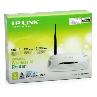Маршрутизатор TP-LINK TL-WR741ND Wi-Fi Router (150 Mbps)