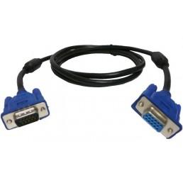 Шнур VGA шт.HDB15pin- шт.HDB15pin, фільт., діам.-9мм, 1м